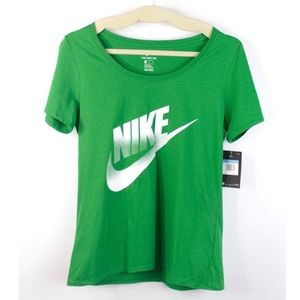 Nike 'The Nike Tee' Green T- Shirt Swoosh Logo